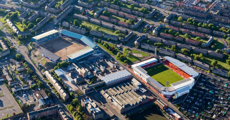 Dens Park and Tannadice in Dundee