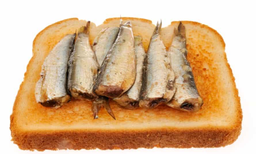 Just add horseradish … pilchards on toast.