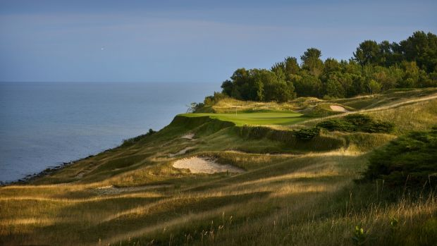 A view from 17th hole at Whistling Straits. Photo: Gary Kellner/PGA of America via Getty Images
