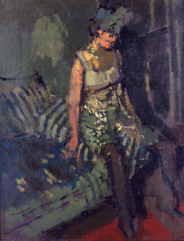 A barely contained, savage sexuality … A Dancer in a Green Dress, 1916 by Walter Richard Sickert.