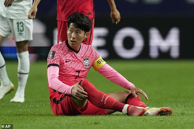 Heung-Min Son picked up a calf injury on international duty for South Korea earlier this month