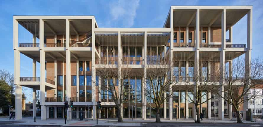 View from the front … the award makes it a hat-trick for Dublin-based Grafton Architects.