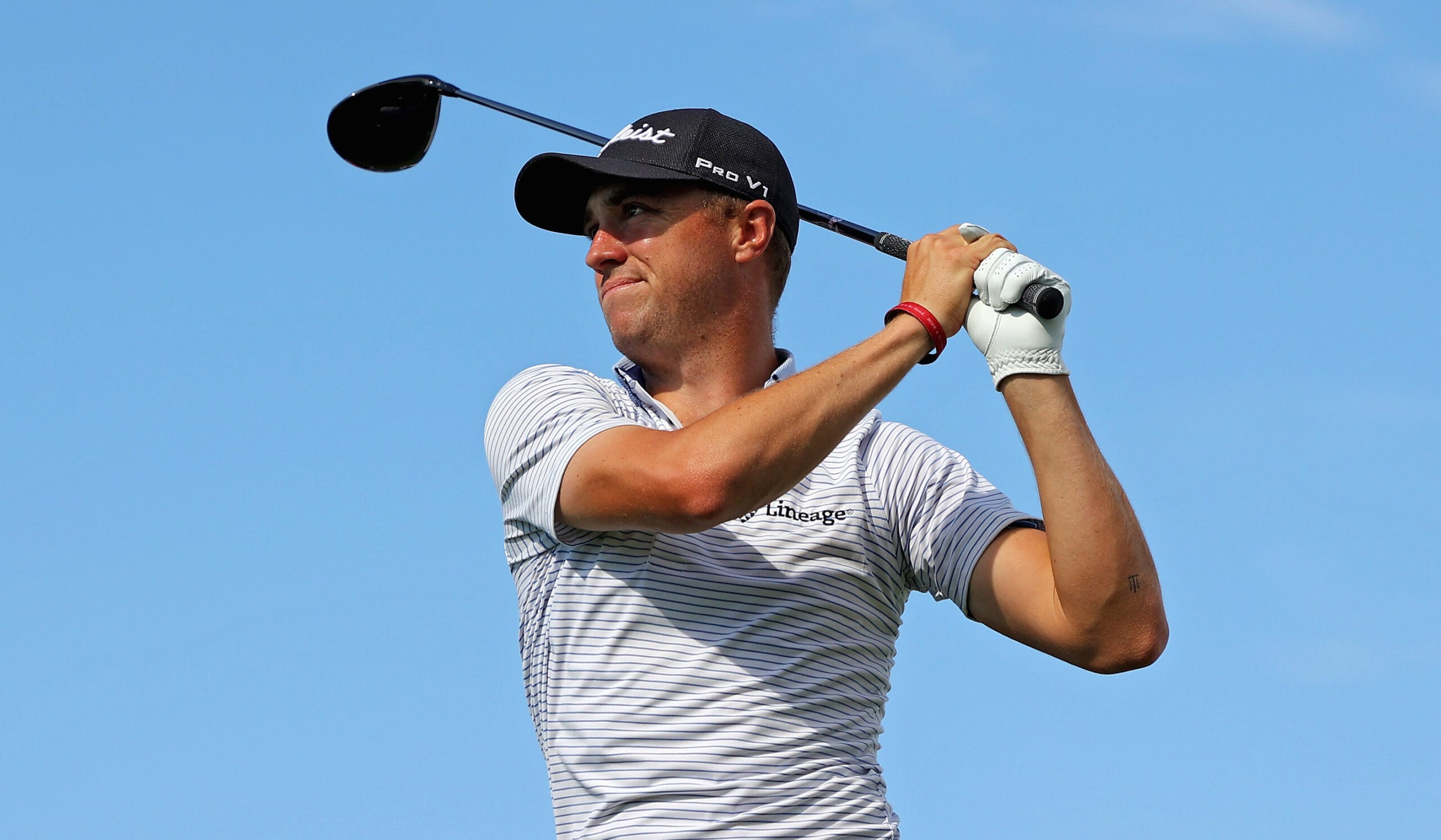 Justin Thomas reacts to the new 48-inch driver ban by the PGA Tour.