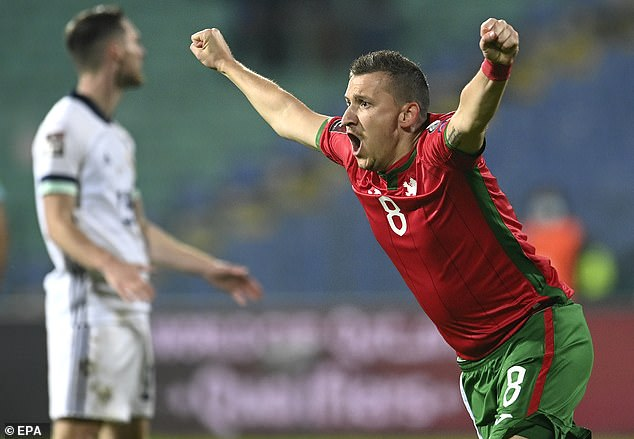 The visitors went ahead in Sofia but a double from Todor Nedelev secured a win for Bulgaria