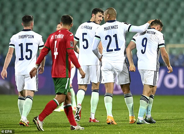 Conor Washington (right) had earlier given Northern Ireland the lead in the first half