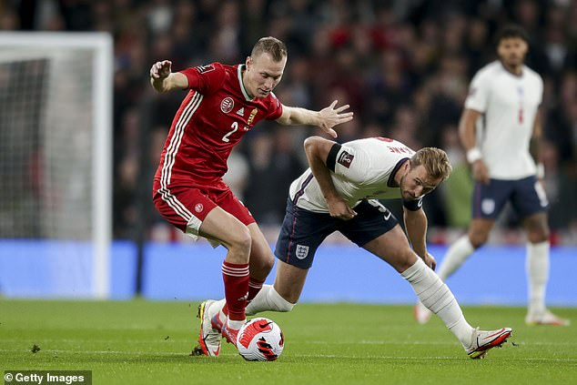 The Three Lions captain rarely looked a threat on a disappointing night for his side