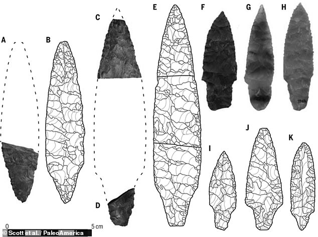 It was similarities in stone artefacts that led many archaeologists to the belief that the first peoples of America migrated from Japan some 15,000 years ago. Specifically, the tools used by the 'Jomon' hunter-gatherer-fisher people of Japan (B, D, E, I, J & K) appear to match those found at ancient Native American archaeological sites (A, C, F, G & H)