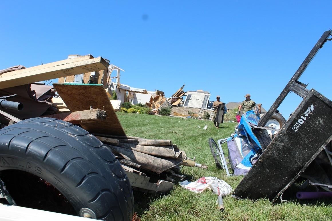 A tornado ripped through Mullica Hill, N.J., destroying homes in its path.
