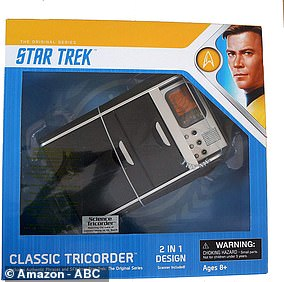 Bezos was replicating the Star Trek classic tricorder, used by Shatner and others in the original series