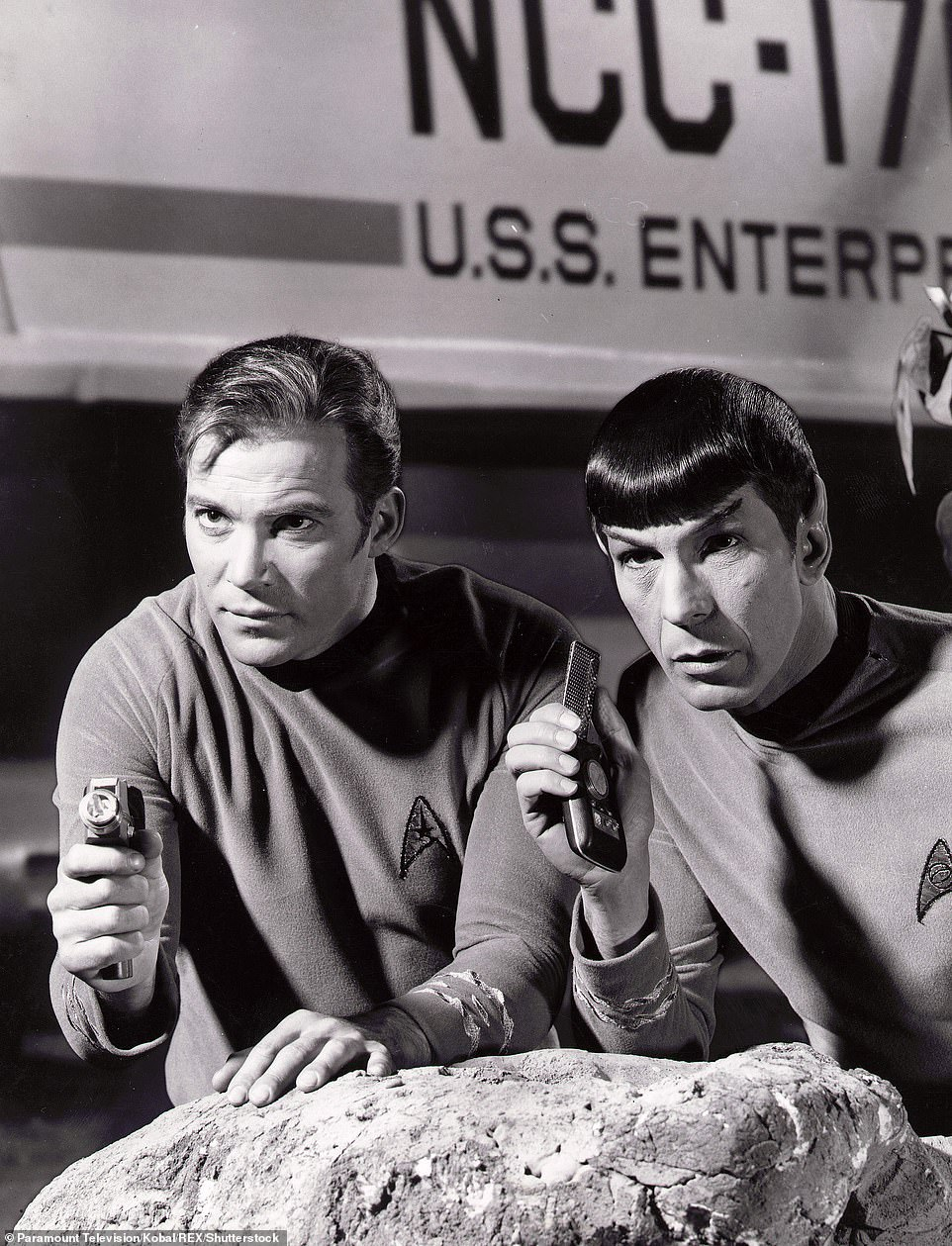 Shatner shot to fame when he took on the role of James T Kirk in the original Star Trek series in 1966