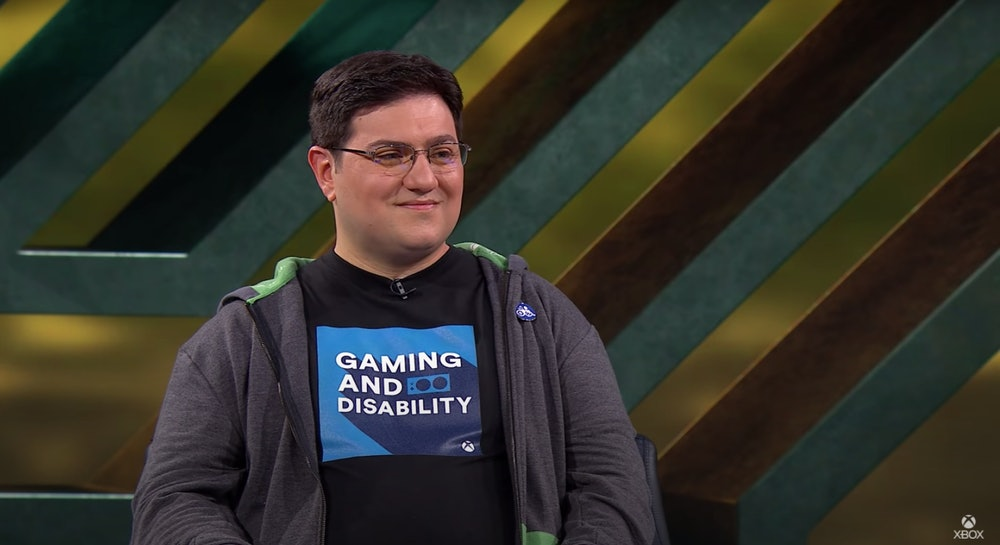 Xbox's Brannon Zahand during the company's October 2021 Accessibility Showcase.