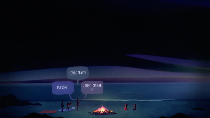 Dialogue options in Oxenfree II.