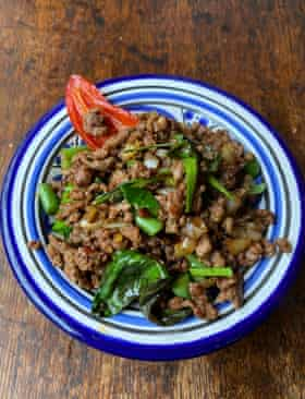 """Rosa's Thai restaurant's dish, which they sometimes call """"no idea"""" – the dish for undecided customers."""