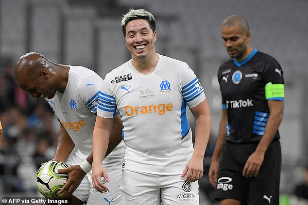 Samir Nasri also featured in the friendly game two weeks on after announcing his retirement