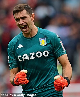 Emiliano Martinez will no longer need to isolate after Argentine was taken off the UK's red list