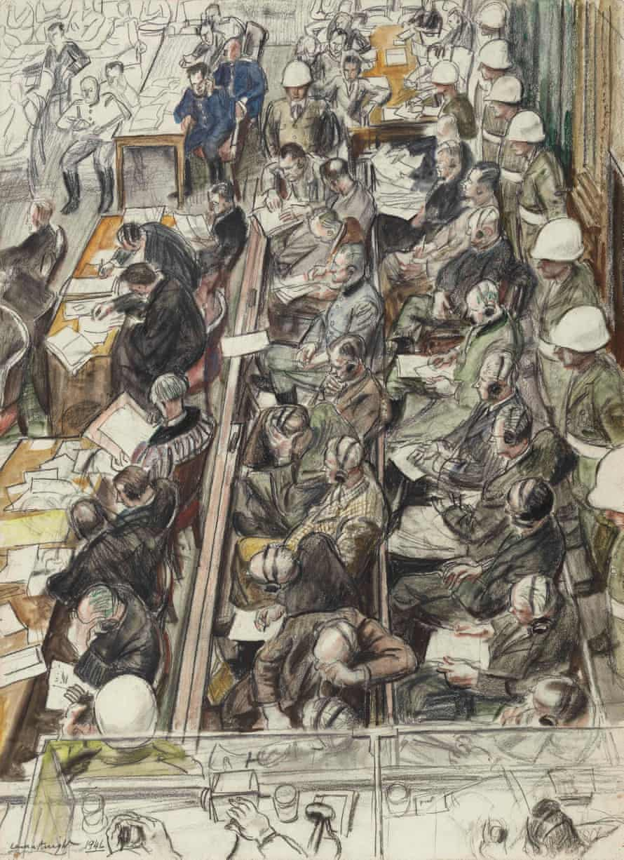 Sketch for The Nuremberg Trial.
