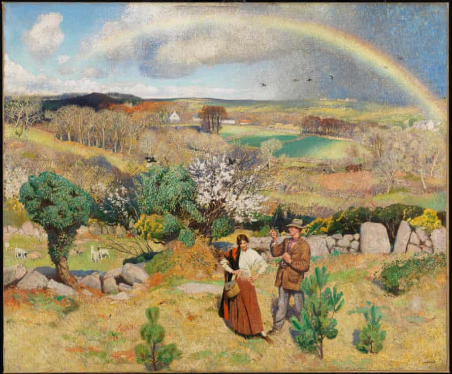 Laura Knight's Spring in Cornwall.