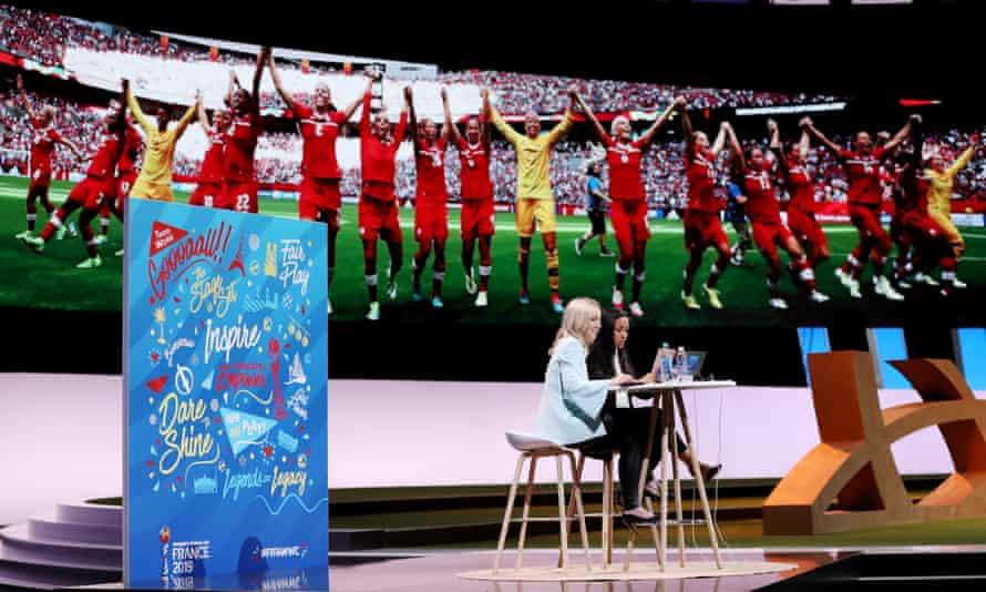 Amanda Vandervort at the Fifa women's football convention in Paris in 2019.