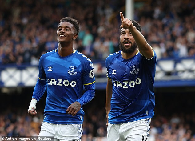 Summer signings Demarai Gray (left) and Andros Townsend have excelled so far at Everton