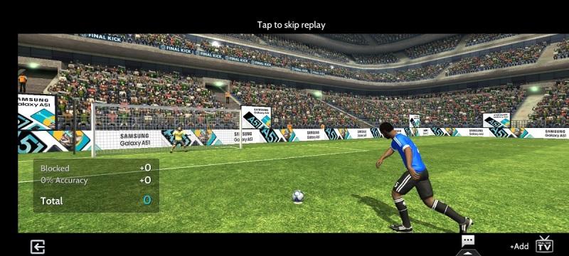 Anzu.io inserts a Samsung ad in Final Kick.