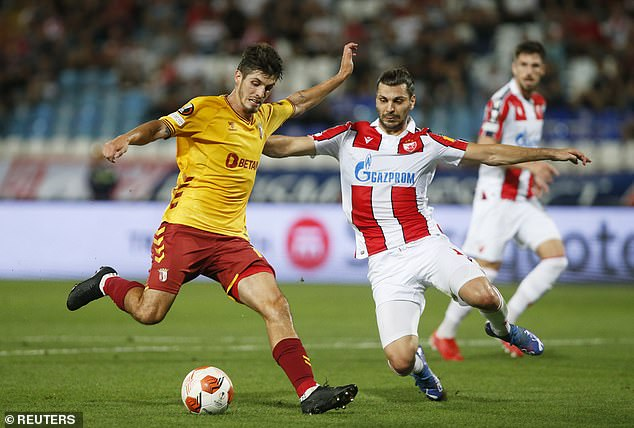 The Austria centre back is now at Red Star Belgrade - having joined the club ahead of this term