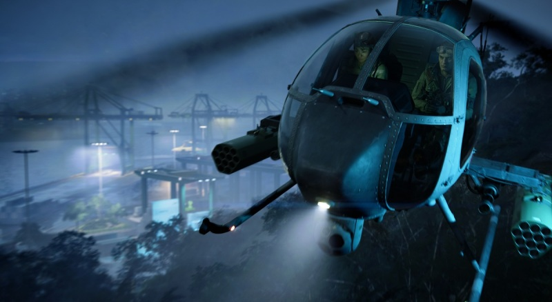 Battlefield 2042 features a pretty powerful-looking two-seat helicopter.