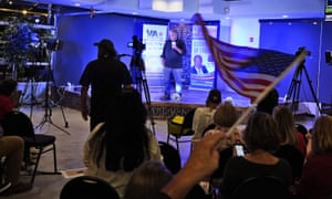 Steve Bannon at an election rally in Richmond, Virginia Wednesday.