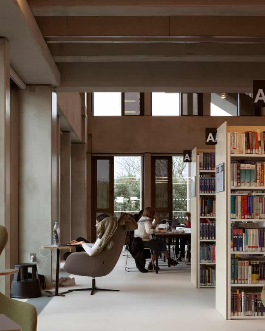 Diverting … study spaces give way to views of Hampton Court Palace and the Thames.