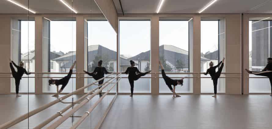 Bit of a stretch … the dance studio.