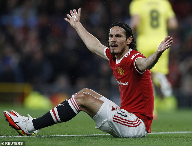 Edinson Cavani (above) should leave Man United in January to save his career insists Gus Poyet