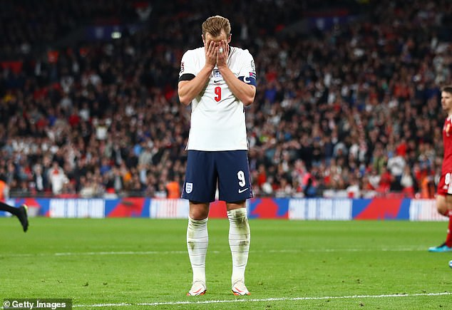 England captain Harry Kane admits his level of play has not been at the level expected