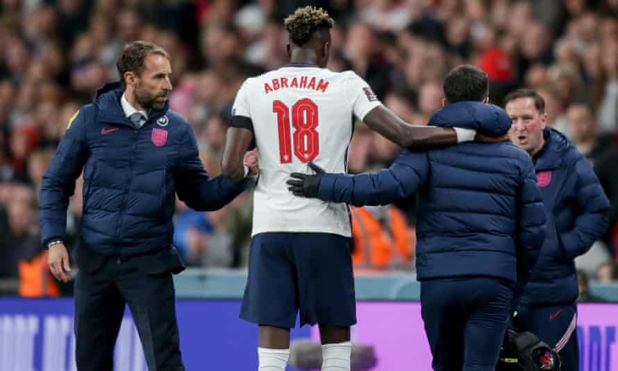 Harry Kane's replacement, Tammy Abraham, was forced off with an injury.