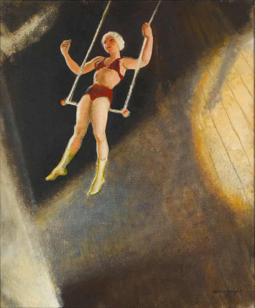Laura Knight's Ella Ardelty on the High Trapeze.