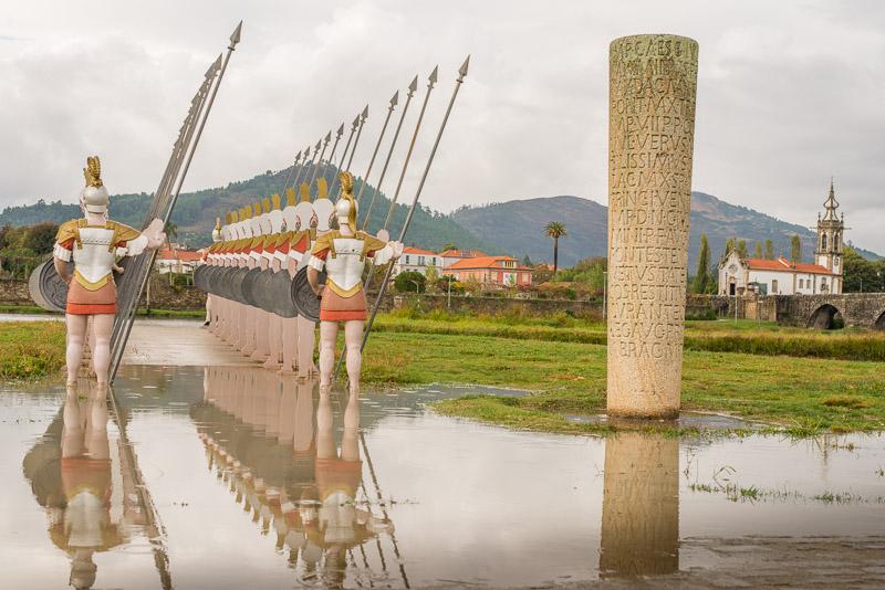 Romeinen aan de rivier Lima oever