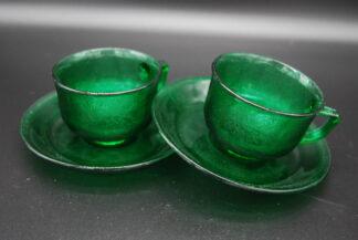 Arcoroc Sierra groen kop en schotel
