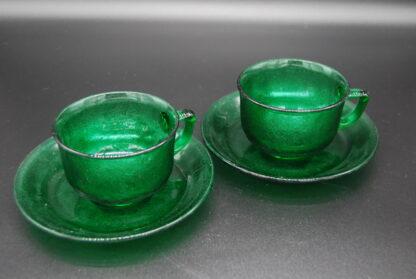 Arcoroc Sierra groen kop en schotel 2