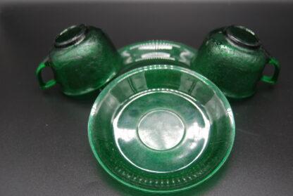 Arcoroc Sierra groen kop en schotel 6
