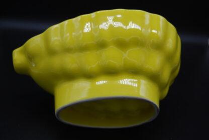 Vintage puddingvorm geel 9