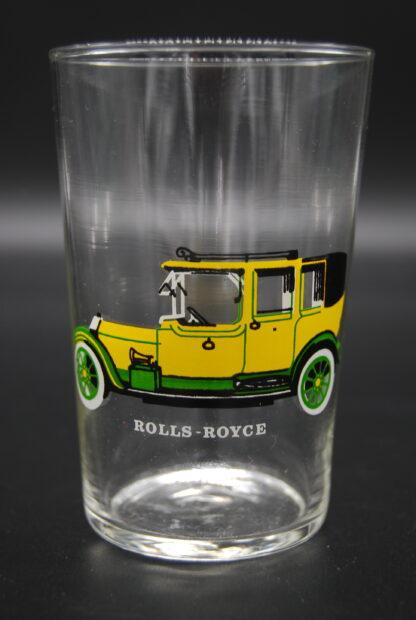 drinkglas met oldtimer Rolls Royce