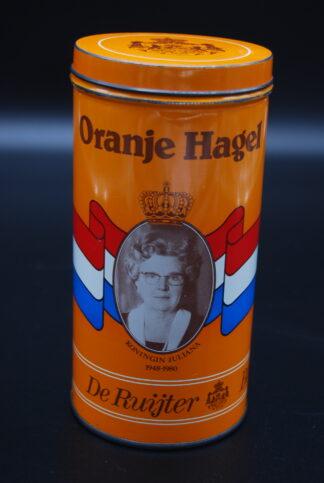 Blik oranje hagel De Ruijter Baarn
