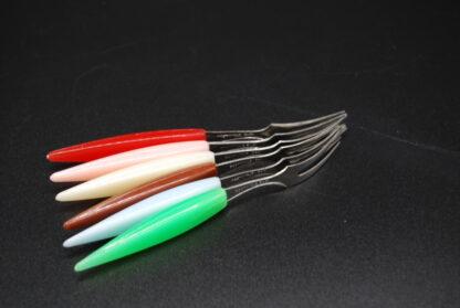 Cocktail vorkjes kleurige set