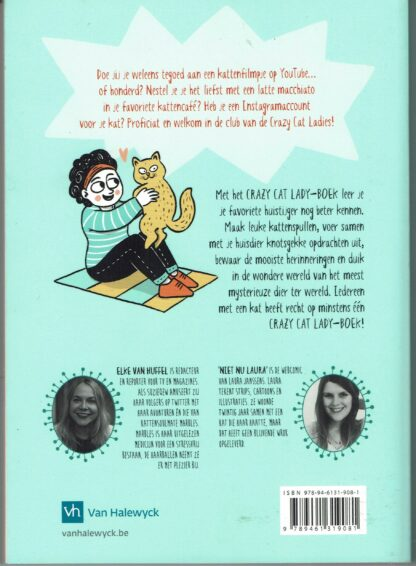 Crazy Cat Lady-Boek - Elke van Huffel (achterkant) isbn9789461319081