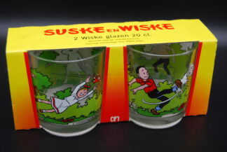 Suske en Wiske glazen nog in originele verpakking