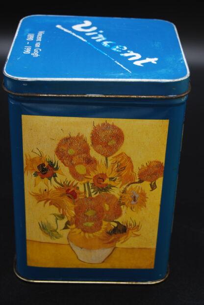 Vincent van Gogh zonnebloemen blik 1990