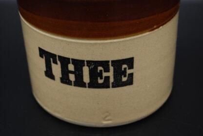 Vintage Thee voorraadpot aardewerk