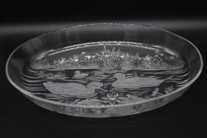 Vintage schaal Wahlter glas