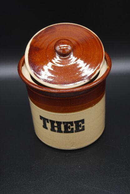 Vintage voorraadpot bruin-beige Pearsons of Chesterfield