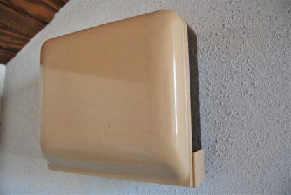Bruine vintage wand weegschaal Soehnle
