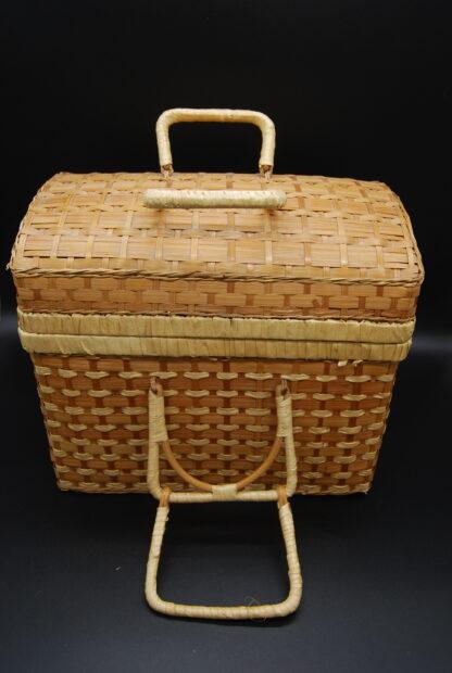 Gevlochten vintage koffertje
