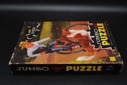 Jeugdsentiment-oude puzzel Jumbo met hond en kind